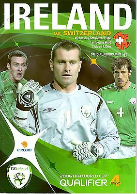 Republic of Ireland v Switzerland WORLD CUP QUALIFIER Group 4 12th October 2005