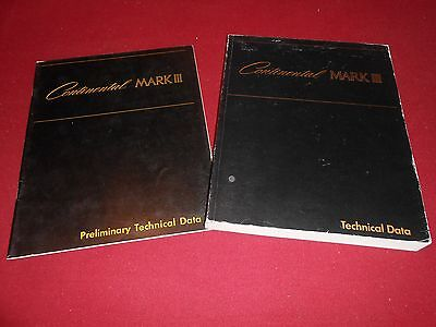 1968 1969 Lincoln Continental Mark Iii Shop Service Manual 68 69 Technical Data