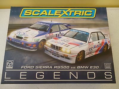 FORD SIERRA RS500 vs BMW E30 (LEGENDS) C369A LTD EDITION  SCALEXTRIC MINT/BOXED