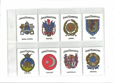 Arms of Countries.Issued by James & Co. c1915.Reprinted 2001.Full set of 20.