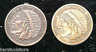 Rare The Indian Has Come Up Tails Too Long Double Headed Indian Token