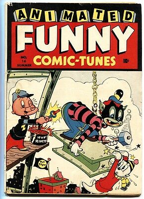 Animated Funny Comic-Tunes #16 (#1) First issue-Bizarre violent funny animal