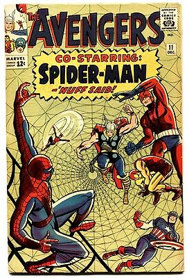 Avengers #11 comic book Spider-Man crossover Silver-age Marvel 1964