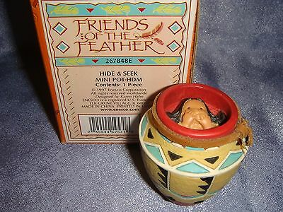 Friends of the Feather - 267848E -MIB- HIDE & SEEK - Indain Hiding in Clay Pot
