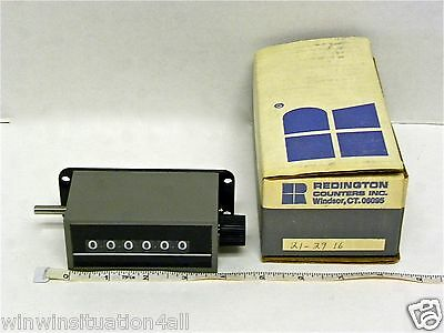 REDINGTON 21-2916 COUNTER  *NEW IN A BOX* 6 Digit Manual Turn Reset