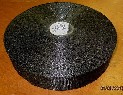 "Black Nylon Duct Support Webbing Strap Belt 1 & 3/4"" x 300 ft. FREE SHIPPING"