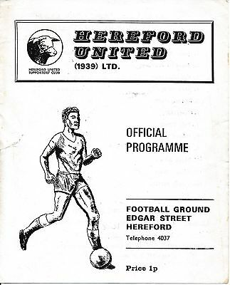 Hereford v Reddich (Worcs Senior Cup) 1971/2 4 - pages