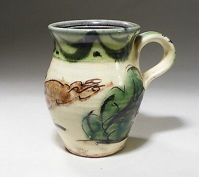 Deborah Prosser Studio Pottery Slipware Small Mug With Hare