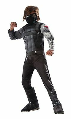 CAPTAIN AMERICA WINTER SOLDIER CHILD MUSCLE COSTUME Halloween Cosplay FancyDress
