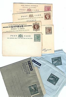 B559 Cyprus British Colonial airletter stationery ps  antique wholesale bargain