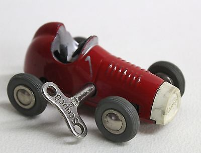 SCHUCO Red Micro Racer Ferrari 1042 Vintage Clockwork Wind Up Toy Car With # Key