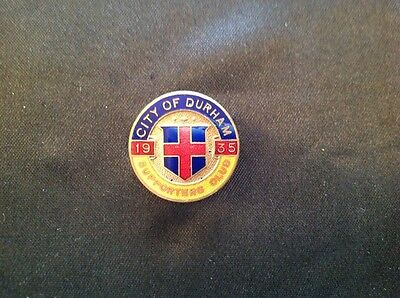 Vintage / Early CITY OF DURHAM, Supporters !  FOOTBALL Club Badge  1935