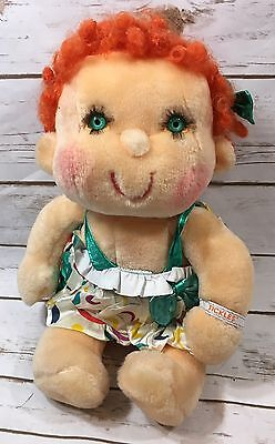 Vintage 1985 Kenner Hugga Bunch Tickles Plush Red Haired Girl Doll Huggabunch