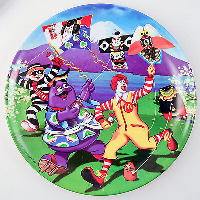McDonald's Character Collector Plate * JAPAN * Kite Flying/Ronald/Grimace * MINT