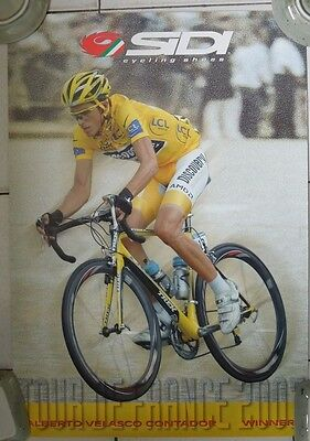 CYCLISME, CICLISMO, RADSPORT, WIELRENNEN : Poster  PUBLICITAIRE SIDI CONTADOR n2