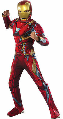 IRON MAN CIVIL WAR MUSCLE CHILD COSTUME Halloween Cosplay Fancy Dress
