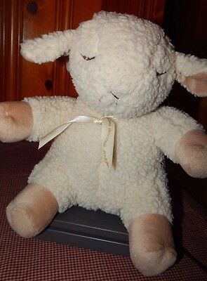 """Cloud B Sleep Sheep Baby Soothing Sounds Plush Toy Hearbeat & More 13"""" Stuffed"""