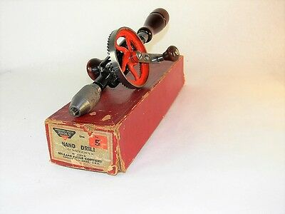 Wow Minty Millers Falls # 5 Hand Egg Beater Drill In Original Box Inv T3072