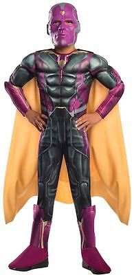 AVENGER VISION AGE OF ULTRON MUSCLE CHILD COSTUME Halloween Cosplay Fancy Dress