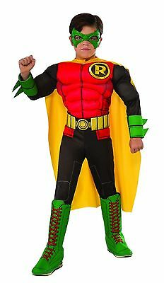 ROBIN DC COMICS MUSCLE CHILD COSTUME Halloween Cosplay Fancy Dress