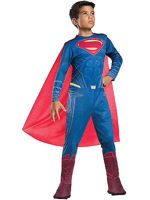 SUPERMAN DAWN OF JUSTICE CHILD COSTUME Halloween Cosplay Fancy Dress