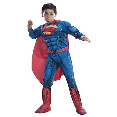 DC COMICS SUPERMAN MUSCLE CHILD COSTUME Halloween Cosplay Fancy Dress