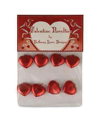 Bethany Lowe - Valentine's Day - Mini Red Heart Ornaments-LG4303