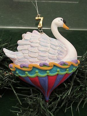 Dept 56 12 Twelve Days Of Christmas Ornaments Seven Swans A Swimming