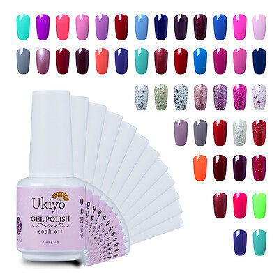 Ukiyo 15ml Soak Off Gel  Nail Polish UV Varnish Top Base Coat Manicure Gelpolish
