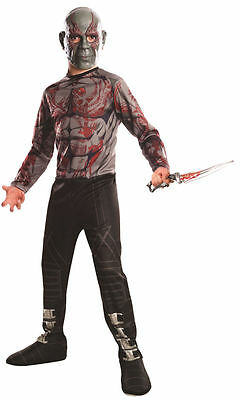 GUARDIANS OF THE GALAXY DRAX THE DESTROYER CHILD COSTUME Cosplay Fancy Dress