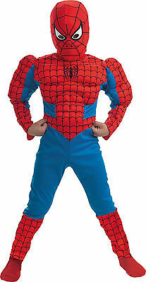 MARVEL SPIDER-MAN MUSCLE CHILD COSTUME Halloween Cosplay Fancy Dress