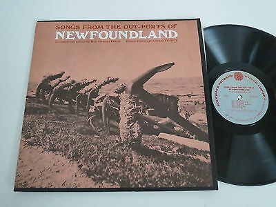 Various Artists/songs From Out-Ports Of Newfoundland Lp 1966 Usa Folkways Fe4075