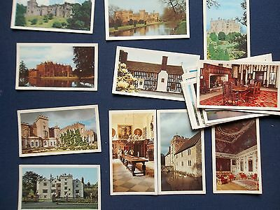 13 John Player Doncella Country Houses And Castles Cigarette Cards Part Set