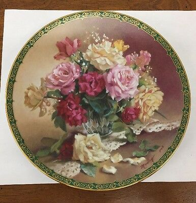 """""""Victorian Beauty"""" 1st Issue Morley's Romantic Roses W. L. George 1993 Plate"""