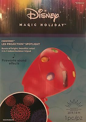 Disney / Gemmy - Magic Holiday - LED Fireworks Projector with Sound Effects  NEW