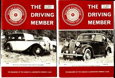 DAIMLER & LANCHESTER The Driving Member  Club Magazine Vol 16 Numbers 6 & 7 1979