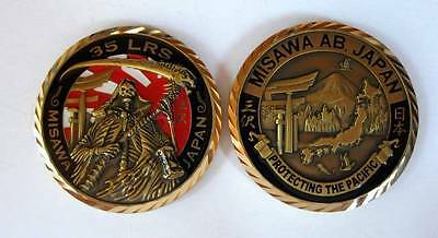 Japan MISAWA ABA Challenge Coin Protecting The Pacific 35 LRS