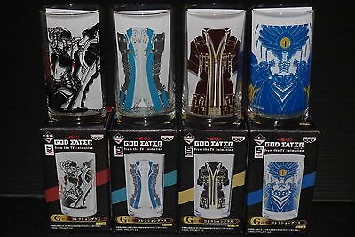 JAPAN God Eater from the TV Animation Collection Glass (x4) Complete Set