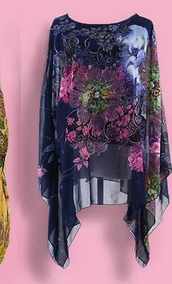 Designer Kurta Indian Pakistani Salwar Kameez Shirt US Caftan BN Silk SZ L XL