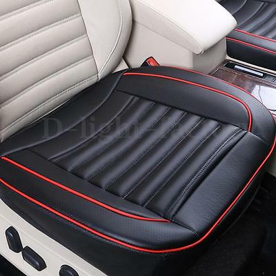 Black PU Leather Car Seats Protector Mat Cover Auto Seat Pad Breathable Cushion