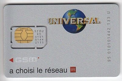 Telecarte Gsm Sim Collector .. France Sfr Universal Argent N° Chip/puce Ut/be