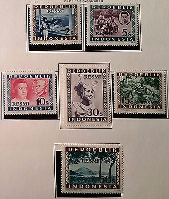 Indonesia 1949 Stamps Scu888Jj...worldwide Stamps
