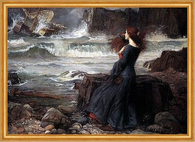 Miranda The Tempest Sturm Meeresbrandung Schiff Shakespeare Waterhouse A2 43