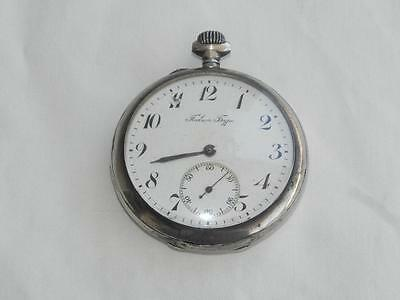 Antique 84 0,875 Russian Sterling Silver Pocket Watch