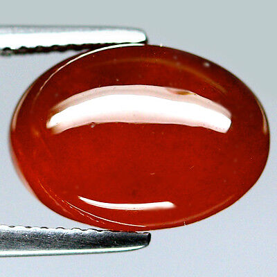 8.11 Ct Natural! Orange Africa Hessonite Garnet Oval Cabochon