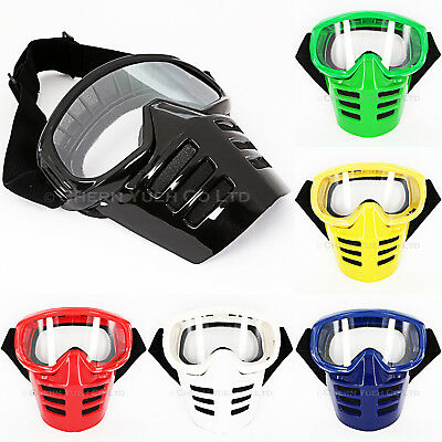Vintage Goggles Mask for Motocross AHRMA Off-Road Vented Full Face Mask Goggles