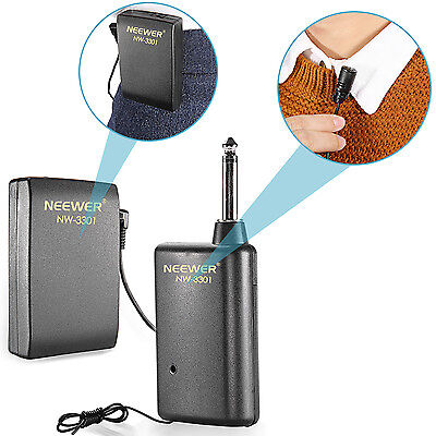 Neewer NW-3301 Hands Free Lavalier Lapel Clip-on Microphone System