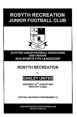 Rosyth Recreation v Oakley United 27th August 2005 ACA Sports Fife League Cup