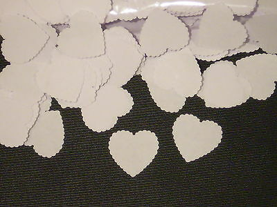 1000 White Hearts Wedding Confetti Table Throw Scrapbooking  Paper Shapes Lot