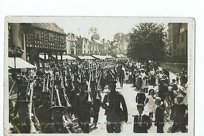 Herefordshire RP of the Herefordshire Regiment marching through Ledbury 1908